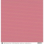 SRM Press - 12 x 12 Patterned Vinyl - Matte - Stripes - Red