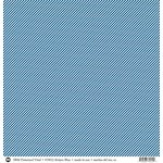SRM Press - 12 x 12 Patterned Vinyl - Matte - Stripes - Blue