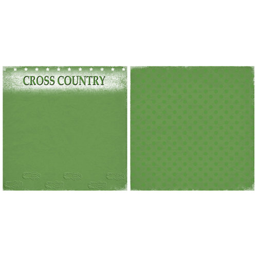 Scrappin Sports and More - Game Day Collection - 12 x 12 Double Sided Paper - Cross Country