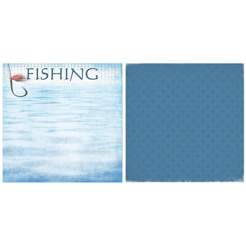 Scrappin Sports and More - Game Day Collection - 12 x 12 Double Sided Paper - Fishing