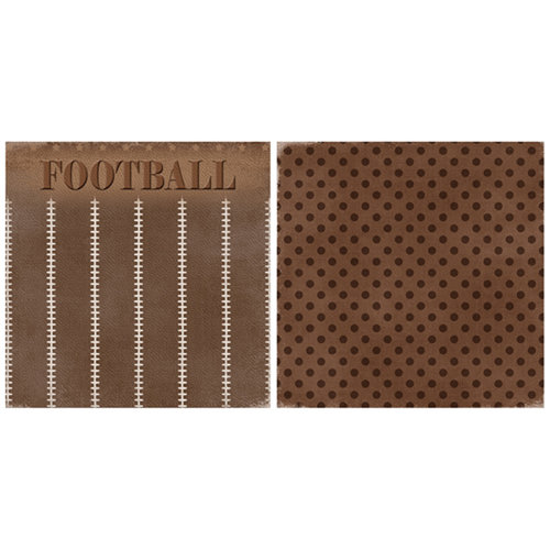 Scrappin Sports and More - Game Day Collection - 12 x 12 Double Sided Paper - Football