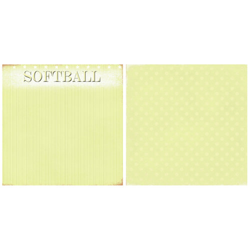 Scrappin Sports and More - Game Day Collection - 12 x 12 Double Sided Paper - Softball
