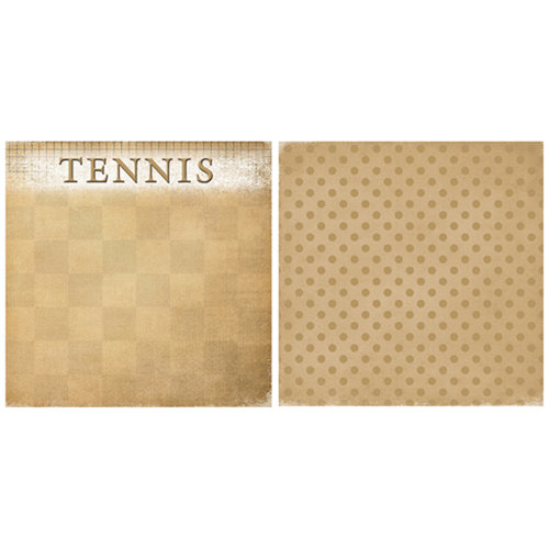Scrappin Sports and More - Game Day Collection - 12 x 12 Double Sided Paper - Tennis