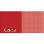 Scrappin Sports and More - Title Sports Collection - 12 x 12 Double Sided Paper - Baseball