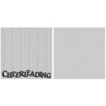 Scrappin Sports and More - Title Sports Collection - 12 x 12 Double Sided Paper - Cheer