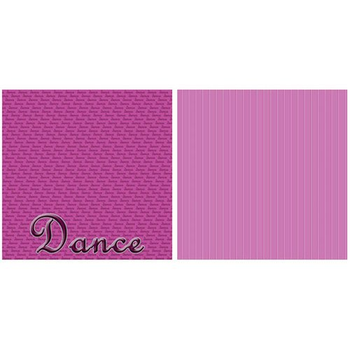 Scrappin Sports and More - Title Sports Collection - 12 x 12 Double Sided Paper - Dance