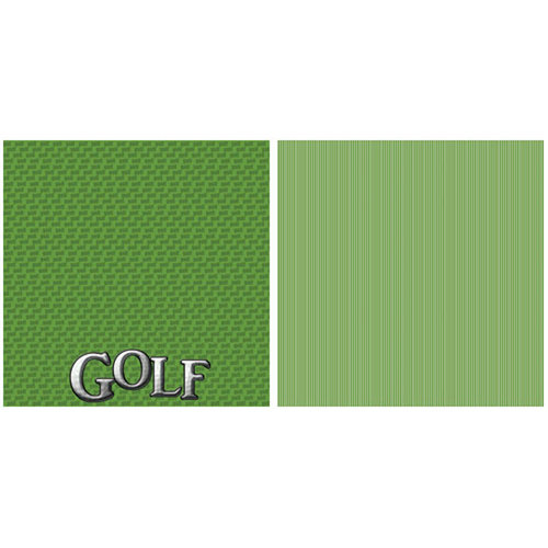 Scrappin Sports and More - Title Sports Collection - 12 x 12 Double Sided Paper - Golf