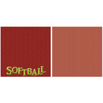 Scrappin Sports and More - Title Sports Collection - 12 x 12 Double Sided Paper - Softball