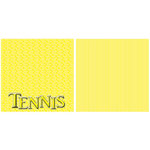 Scrappin Sports and More - Title Sports Collection - 12 x 12 Double Sided Paper - Tennis