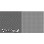 Scrappin Sports and More - Title Sports Collection - 12 x 12 Double Sided Paper - Volleyball