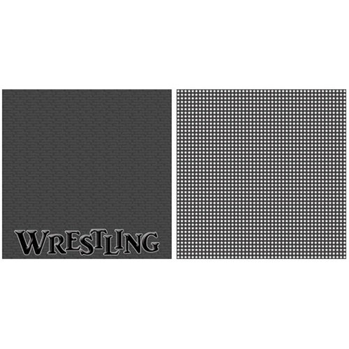 Scrappin Sports and More - Title Sports Collection - 12 x 12 Double Sided Paper - Wrestling