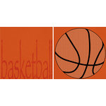 Scrappin Sports and More - Sporty Words Collection - 12 x 12 Double Sided Paper - Basketball