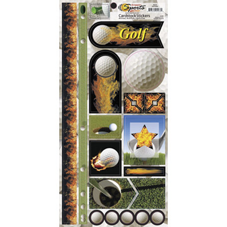 Scrappin Sports and More - Sports on Fire Collection - Cardstock Stickers - Golf Balls