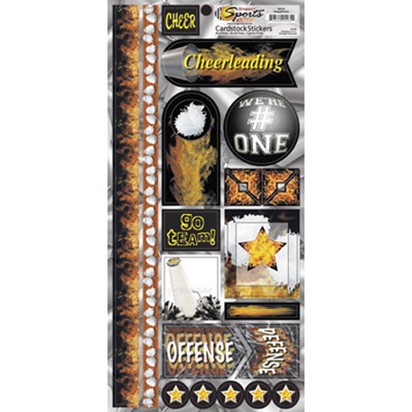 Scrappin Sports and More - Sports on Fire Collection - Cardstock Stickers - Megaphones