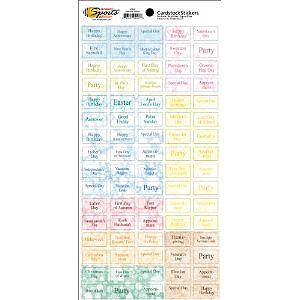 Scrappin Sports and More - Calendars Made Easy Collection - Cardstock Stickers - Calendar