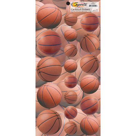 Scrappin Sports and More - Name of the Game Collection - Cardstock Stickers - Basketball