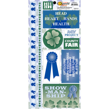 Scrappin Sports and More - Down on the Farm Collection - Cardstock Stickers - Four H