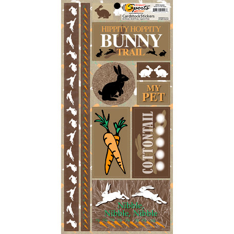 Scrappin Sports and More - Down on the Farm Collection - Cardstock Stickers - Rabbits