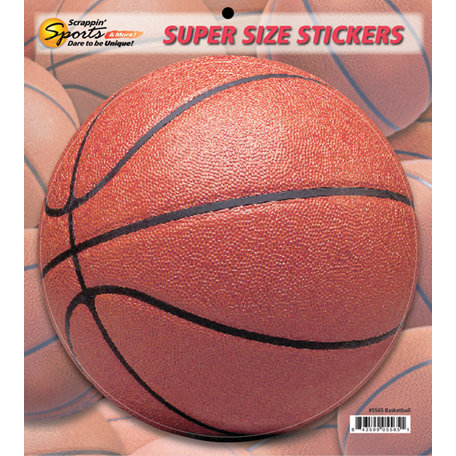Scrappin Sports and More - Super Size Cardstock Stickers - Basketball