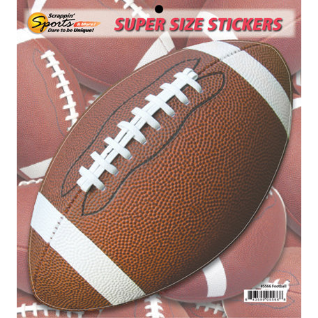 Scrappin Sports and More - Super Size Cardstock Stickers - Football