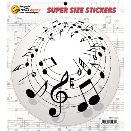Scrappin Sports and More - Super Size Cardstock Stickers - Music