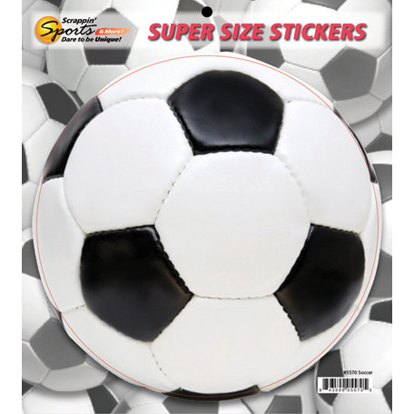 Scrappin Sports and More - Super Size Cardstock Stickers - Soccer