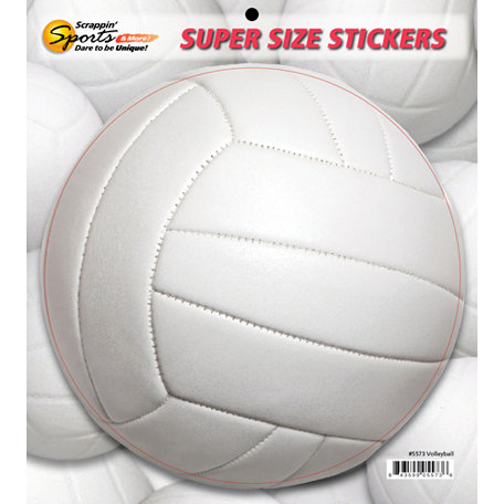 Scrappin Sports and More - Super Size Cardstock Stickers - Volleyball
