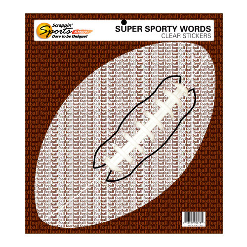Scrappin Sports and More - Sporty Words Collection - Clear Stickers - Football