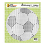 Scrappin Sports and More - Sporty Words Collection - Clear Stickers - Soccer