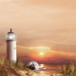 SugarTree - 12 x 12 Paper - Lighthouse Daybreak