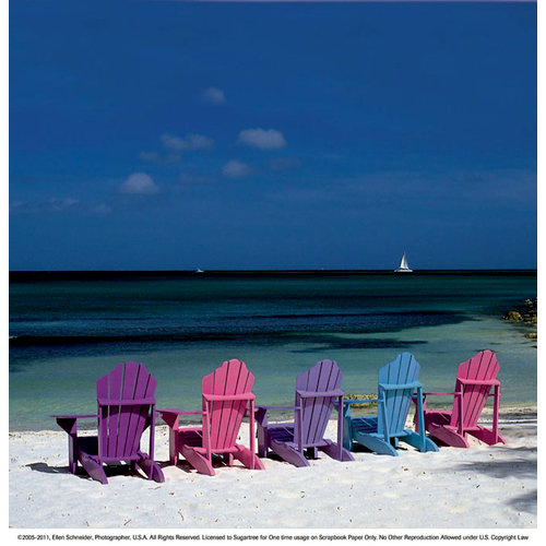 SugarTree - 12 x 12 Paper - Shoreline Beach Chairs