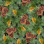SugarTree - 12 x 12 Paper - Evergreen and Pine Cones