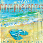 SugarTree - 12 x 12 Paper - Best Memories Flip Flops
