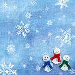 SugarTree - 12 x 12 Paper - Snowflakes and Snowmen