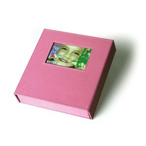 Scrapworks - Bay Box Album - 6x8 - Baby Pink Fabric, CLEARANCE
