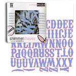 Scrapworks - Shimmer Shapes - Chipboard Letters - Carnival Blue, CLEARANCE