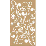 Scrapworks - Exposed Elements - Vinyl Appliques - Swirls White, CLEARANCE
