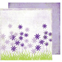 Scrap Within Reach - Full Bloom Collection - 12 x 12 Double Sided Paper - Whispering Grass