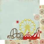 Scrap Within Reach - Carnival Ride Collection - 12 x 12 Double Sided Paper - Sugarland, BRAND NEW