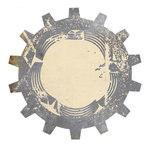 Scrap Within Reach - Industrial Collection - 10 x 10 Die Cut Paper - The Cog, CLEARANCE