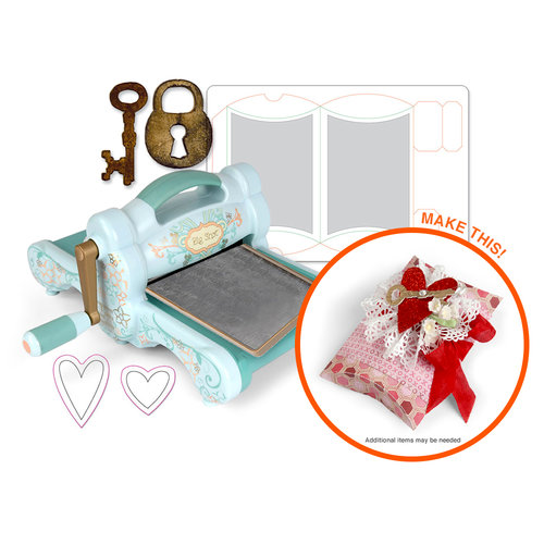 Sizzix - Big Shot Machine - Key to My Heart Gift Box Die Kit (Scrapbook.com Exclusive)