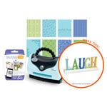 Sizzix - Texture Boutique Embossing Machine - Laugh Decor Embossing Folder Kit (Scrapbook.com Exclusive)