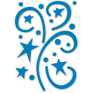 Sizzix - Simple Impressions - Embossing Folder - Stars and Swirls