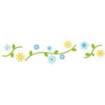 Sizzix - Sizzlits Decorative Strip Die - Die Cutting Template - Flowers and Stems, CLEARANCE