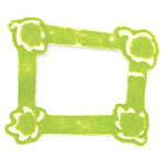 Sizzix - Embosslits Die - Die Cutting Template - Small - Frame with Leaves, CLEARANCE
