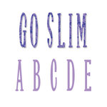 Sizzix - Bigz Die - Die Cutting Template - Go Slim Uppercase Alphabet Set, CLEARANCE