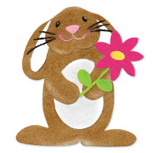 Sizzix - Originals Die - Die Cutting Template - Bunny and Flower