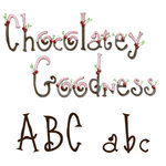 Sizzix - Sizzlits Die - Die Cutting Template - 9 Pack - Small - Chocolatey Goodness Alphabet Set