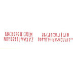Sizzix - Sizzlits Die - Die Cutting Template - 9 Pack - Small - The Ginchiest Alphabet Set, CLEARANCE