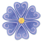 Sizzix - Sizzlits Die - Die Cutting Template - Medium - Flower Heart Petals and Center